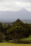 Africa, Kenya, Nanyuki. Mt. Kenya, view from the Mt. Kenya Safari Club.