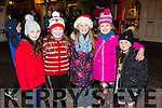Enjoying the switching on of the christmas lights in Castleisland on Saturday were Lucy McKenna, Grainne O'Shea, Rachel Horgan, Leah Burke and Caitlyn  Swanser