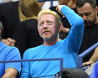 FLUSHING NY- SEPTEMBER 06: Boris Becker is seen watching Novak Djokovic Vs Jo Wilfred Tsonga on Arthur Ashe Stadium at the USTA Billie Jean King National Tennis Center on September 6, 2016 in Flushing Queens. Credit: mpi04/MediaPunch