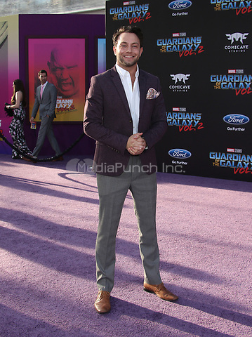 "HOLLYWOOD, CA - April 19: Jonathan Sadowski, At Premiere Of Disney And Marvel's ""Guardians Of The Galaxy Vol. 2"" At The Dolby Theatre  In California on April 19, 2017. Credit: FS/MediaPunch"