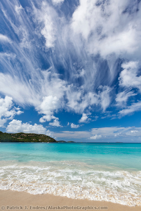 Cinamon beach on the island of St. John, Virgin Islands.