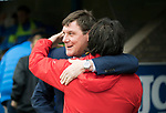 St Johnstone v Dundee&hellip;11.03.17     SPFL    McDiarmid Park<br />Tommy Wright greets Paul Hartley before kick off<br />Picture by Graeme Hart.<br />Copyright Perthshire Picture Agency<br />Tel: 01738 623350  Mobile: 07990 594431