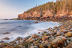 Sunrise on Otter Cliffs in Acadia National Park, Maine, USA