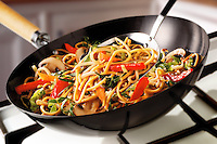 Stir Fry Noodles, peppers, mushrooms & carrots