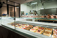 Roma 11 Giugno 2012.Apre Eataly Roma ,nell'ex Terminal Ostiense, quattro piani per una superfice  di 17 mila metri quadri,  ristoranti, caseificio, forno del pane, l'angolo delle fritture,  bar, paninoteche, negozi di alimentari, tutto della migliore qualità italiana. La Pasticceria.Opens Eataly former Roma Terminal Ostiense, four plans for an area of ??17 thousand square meters, ,restaurants, cheese factory, bread oven , the angle fried food, cafes, sandwich shops, food stores, with an emphasis on Italian.  cake shop