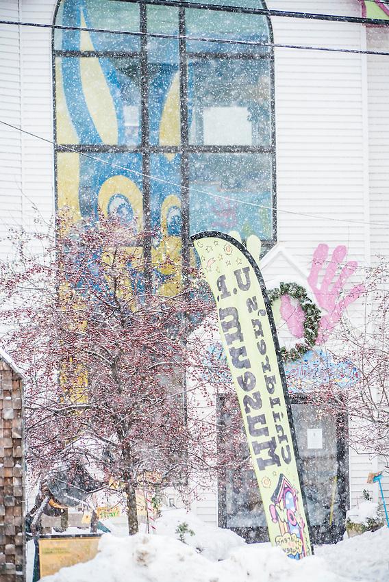 The Upper Peninsula Children's Museum in winter.