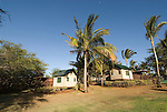 Hawaii: Molokai, eco-lodging at The Lodge at Moloki Ranch, at Kaupoa Beach, self-sufficient lodgings with own solar electricity, solar hot water, and composting toilet..Photo himolo193-72339..Photo copyright Lee Foster, www.fostertravel.com, lee@fostertravel.com, 510-549-2202