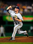 22 August 2009: Milwaukee Brewers' pitcher Mark DiFelice on the mound in relief against the Washington Nationals at Nationals Park in Washington, DC. The Brewers defeated the Nationals 11-9 in the second game of their four-game series. Mandatory Credit: Ed Wolfstein Photo