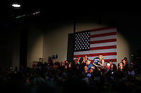 BLACKWOOD, NJ - MAY 11 : Supporters of U.S. Democratic presidential candidate Hillary Clinton listen to her while she attends a rally on May 11, 2016 in Blackwood, New Jersey. Hillary Clinton will clinch the party's nomination after votes come in June 7. Photo by VIEWpress