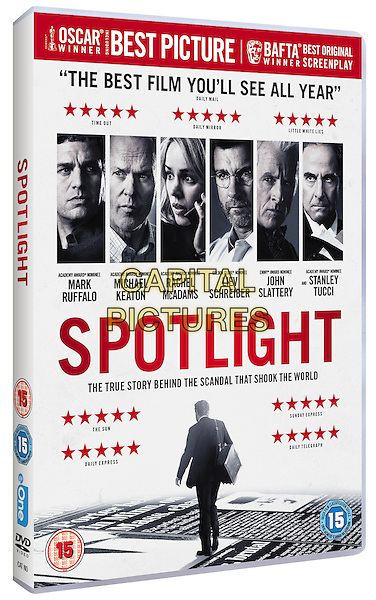Spotlight (2015)<br /> DVD COVER ART<br /> *Filmstill - Editorial Use Only*<br /> CAP/KFS<br /> Image supplied by Capital Pictures