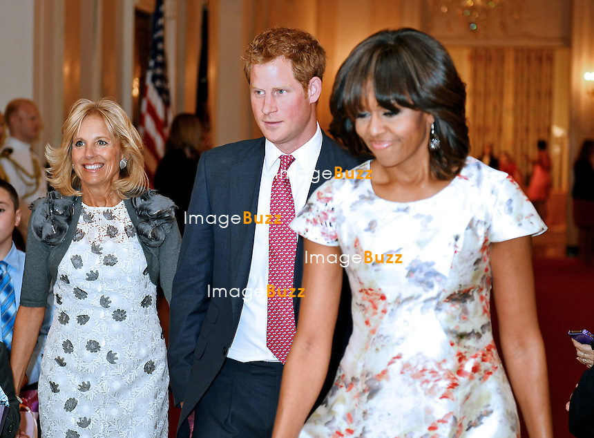 PRINCE HARRY AND FIRST LADY MICHELLE OBAMA.attends an event an event in honour of military mothers at the White House, Washington DC_09/05/2013.Jill Biden, wife of Vice President Joe Biden was also present at the event..Prince Harry is on a week long USA visit the includes Washington, Denver, Colorado Springs, New Jersey, New York and Conneticut.
