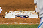 7 October 2016: A Washington Nationals NLDS base is sprinkled with dirt during the NLDS Game 1 against the Los Angeles Dodgers at Nationals Park in Washington, DC. The Dodgers edged out the Nationals 4-3 to take the opening game of their best-of-five series. Mandatory Credit: Ed Wolfstein Photo *** RAW (NEF) Image File Available ***