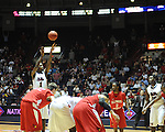"Ole Miss' Terrance Henry (1) gives the Rebels a lead late in the game vs. Illinois State in a National Invitational Tournament game at the C.M. ""Tad"" Smith Coliseum in Oxford, Miss. on Wednesday, March 14, 2012. Illinois State won 96-93 in overtime. (AP Photo/Oxford Eagle, Bruce Newman)"