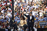 December 9, 2007. Columbia, SC.. Democratic presidential hopeful and US Senator, Barack Obama held a rally for an estimated 29,000 people at the University of South Carolina's football stadium with special guest Oprah Winfrey.. Barack Obama speaks as Michelle and Oprah look on... .