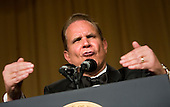 Washington, D.C. - April 21, 2007 - Comedian Rich Little impersonates United States President George W. Bush at the White House Correspondents Association Dinner April 21, 2007 in Washington, DC.  Comedian Rich Little hosted and provided entertainment for President George W Bush, White House reporters, their guests and celebrities. .Credit: Brendan Smialowski - Pool via CNP