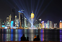 General view,..JANUARY 24, 2011 - Football :..A general view of the skyline of the West Bay area in Doha at night during the AFC Asian Cup Qatar 2011 in Doha, Qatar. (Photo by Jinten Sawada/AFLO)