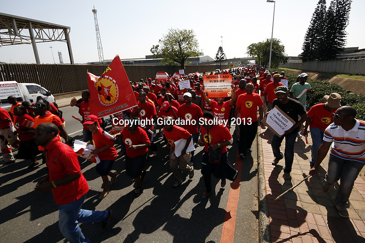 Numsa protests outside toyota allied picture press for Motor city credit union locations