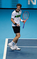 Andy Murray (GBR) (5) against David Ferrer (ESP) (7) in a Group B match. Andy Murray beat David Ferrer 6-2 6-2..International Tennis - Barclays ATP World Tour Finals - O2 Arena - London - Day 5 - Thu 25 Nov 2010..© Frey - AMN Images, Level 1, Barry House, 20-22 Worple Road, London, SW19 4DH.Tel - +44 208 947 0100.Email - Mfrey@advantagemedianet.com.Web - www.amnimages.photshelter.com
