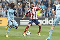 Eric Avila (15) midfield Chivas USA in action..Sporting Kansas City defeated Chivas USA 4-0 at Sporting Park, Kansas City, Kansas.