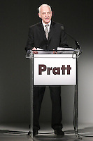 Thomas F. Schutte, President of Pratt Institute speaking before the Pratt 2011 fashion show, honoring Hamish Bowles, April 27 2011.