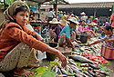 Fish sellers in the Nyaung Shwe market.