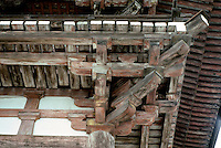 Kyoto: Todaiji Temple--detail of eave brackets. Photo '81.