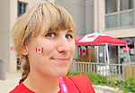 LONDON, ENGLAND – 08/26/2012:  Kirby Cote in Canada's Athlete Village at the London 2012 Paralympic Games. (Photo by Matthew Murnaghan/Canadian Paralympic Committee)