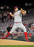 29 September 2010: Philadelphia Phillies' pitcher Joe Blanton on the mound against the Washington Nationals at Nationals Park in Washington, DC. The Phillies defeated the Nationals 7-1 to take the rubber game of their 3-game series. Mandatory Credit: Ed Wolfstein Photo