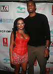 Designer Johanna Sarria and NBA Player Lance Thomas Backstage atAttends Swim Sunrise Fashion Show Held at New York Aqua Bar & Lounge inside Grace Hotel, NY 7/27/12