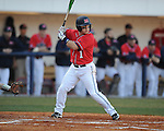Ole Miss's Zach Miller bats vs. Louisiana-Monroe at Oxford-University Stadium in Oxford, Miss. on Friday, February 19, 2010.