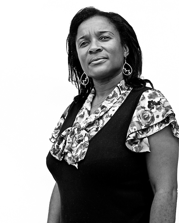 May 18, 2010.Durham, North Carolina.. Portrait of Michelle Cotton-Laws, the chairperson of the Chapel Hill chapter of the NAACP.