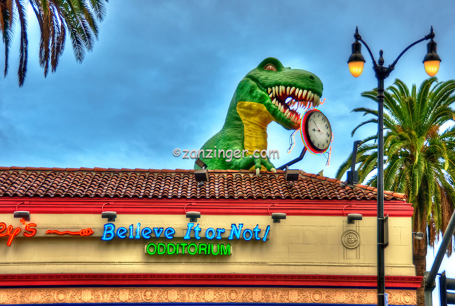 Ripley's Believe It Or Not! Odditorium, Tyrannosaurus Rex, Hollywood, CA, Hollywood Blvd, tourist, attractions, Los Angeles, Ca,