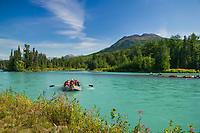 Whitewater rafting down the Kenai River, Kenai Peninsula, Alaska