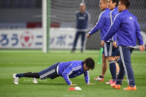 Atsuto Uchida (JPN), <br /> MARCH 30, 2015 - Football / Soccer : <br /> Japan training session <br /> at Tokyo Stadium in Tokyo, Japan. <br /> (Photo by AFLO SPORT)