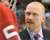 Brent Brekke (Miami - Associate Head Coach) - The University of New Hampshire Wildcats defeated the Miami University RedHawks 3-1 (EN) in their NCAA Northeast Regional Semi-Final on Saturday, March 26, 2011, at Verizon Wireless Arena in Manchester, New Hampshire.