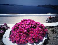"View from Imerovigill Village Island of Santorini, Greee Cyclades Aegean Sea ""Thera"" Possible source of Atlantis legend"