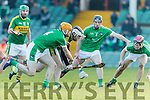 Jordan Conway Kerry in action against  Richie English Limerick in the Munster Hurling League Round 4 at the Gaelic Grounds, Limerick on Sunday.