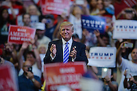 SUNRISE, FL - AUGUST 10: Republican Presidential Candidate Donald Trump speaks during a rally at The BB&T Center on August 10, 2016 in Sunrise Florida. Credit MPI04 / MediaPunch