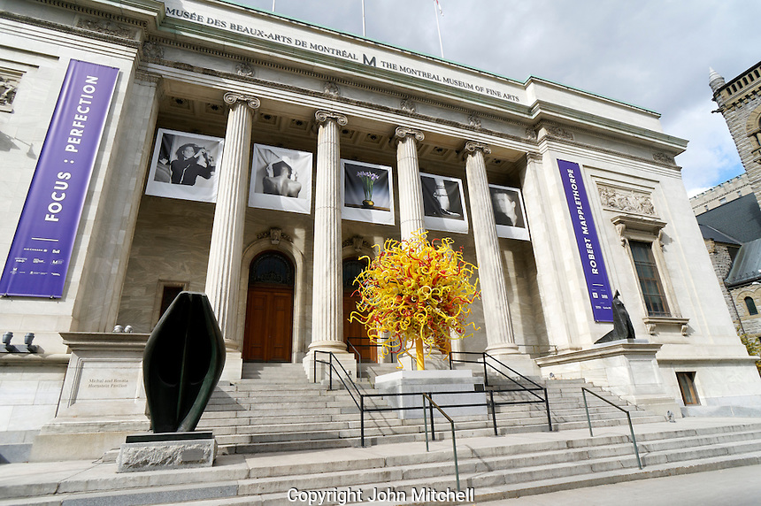 Montreal Museum of Fine Arts or Musee des Beaux-Arts, Montreal, Quebec, Canada