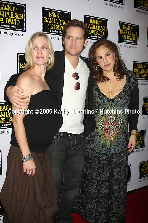 """Jennie Garth &  Peter Facinelli, with Kathy Najimy  arriving at the """"Back to Bacharach & David""""  Musical Opening at the Henry Fonda Theater in Hollywood, California on April 19, 2009.©2009 Kathy Hutchins / Hutchins Photo....                ."""