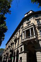The arcaded Corso Vittorio Emanuele II in Turin (Italy, 18/06/2010)