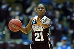 22 March 2015: Mississippi State's Jerica James. The Duke University Blue Devils hosted the Mississippi State University Bulldogs at Cameron Indoor Stadium in Durham, North Carolina in a 2014-15 NCAA Division I Women's Basketball Tournament second round game. Duke won the game 64-56.