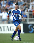 Birgit Prinz at SAS Stadium in Cary, North Carolina on 8/9/03 during a game between the Carolina Courage and Philadelphia Charge. The game ended in a 1-1 tie.