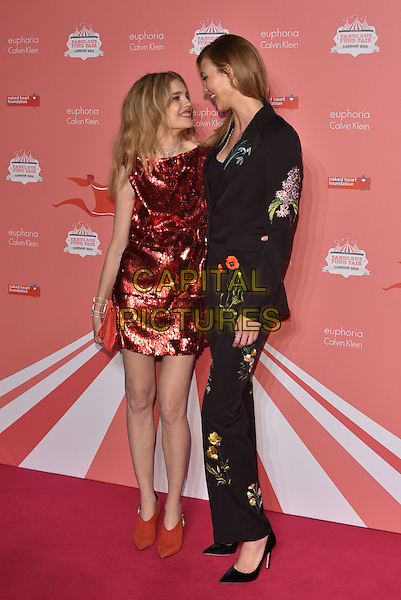Natalia Vodianova, Karlie Kloss<br /> arrivals at London's Fabulous Fund Fair 2016 in aid of the Naked Heart Foundation at Old Billingsgate Market on 20th February 2016.<br /> CAP/PL<br /> &copy;Phil Loftus/Capital Pictures