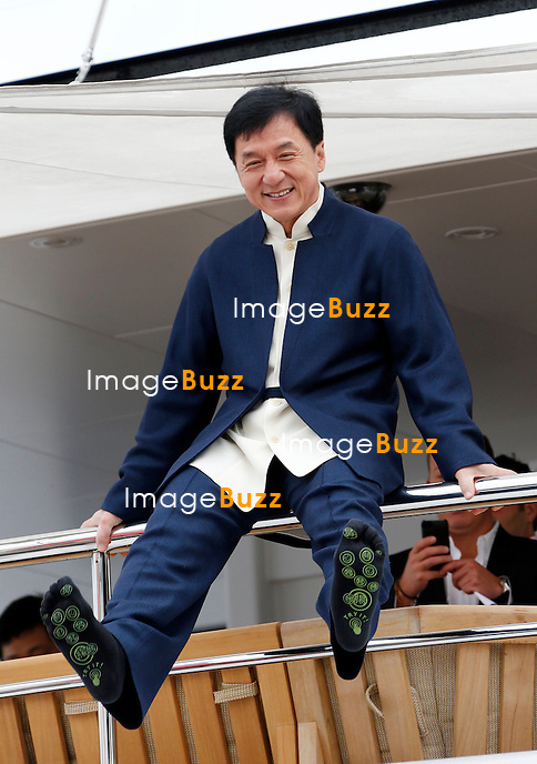 Actor Jackie Chan and director Sam Fell attend the 'Skiptrace' Photocall during the 66th Annual Cannes Film Festival at the Palais des Festivals on May 16, 2013. Cannes, France.