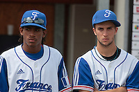 19 August 2010: David Van Heyningen of Team France is seen next to Quentin Pourcel prior to France 7-6 win over Slovakia, at the 2010 European Championship, under 21, in Brno, Czech Republic.