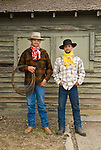 Cowboys Joe Kingen & Jason Ott wear their colorful wild rags, Jordan Valley Big Loop Rodeo..