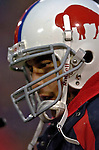 3 December 2006: Buffalo Bills quarterback J.P. Losman (7) warms up on the bench during a game against the San Diego Chargers at Ralph Wilson Stadium in Orchard Park, New York. The Charges defeated the Bills 24-21. Mandatory Photo Credit: Ed Wolfstein Photo<br />