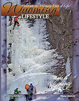 Cover Wyoming Lifestyle Magazine, ice climbers.