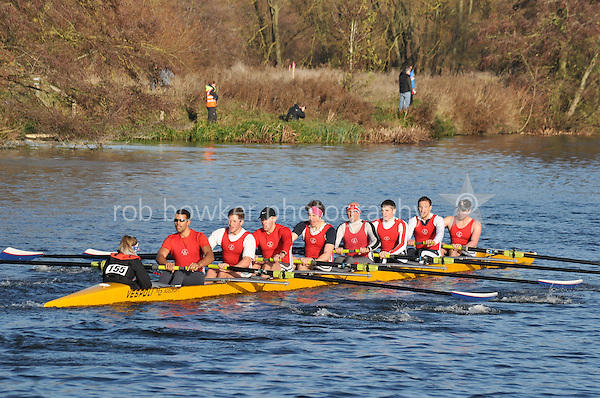 155 .AGE-Fear .IM1.8+ .Agecroft. Wallingford Head of the River. Sunday 27 November 2011. 4250 metres upstream on the Thames from Moulsford railway bridge to Oxford University's Fleming Boathouse in Wallingford. Event run by Wallingford Rowing Club.